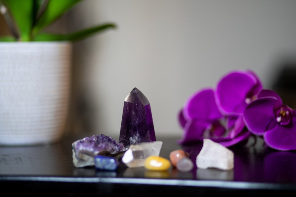 lepidolite combines with these crystals